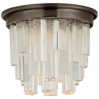 """Breck 5"""" Solitaire Flush Mount in Bronze with Clear Acrylic"""
