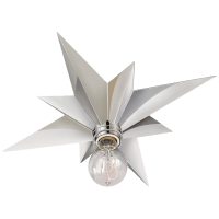 Star Flush Mount in Polished Nickel