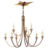 Venetian Medium Two-Tier in Hand-Rubbed Antique Brass