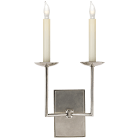 Right Angle Double Sconce in Antique Nickel