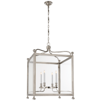 Greggory Large Lantern in Polished Nickel