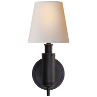 Longacre Sconce in Bronze with Natural Paper Shade