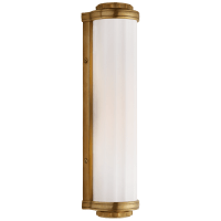Milton Road Bath Light in Hand-Rubbed Antique Brass with White Glass