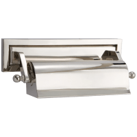 "Library 10"" Picture Light in Polished Nickel"