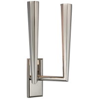Galahad Double Sconce in Polished Nickel