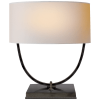 Kenton Desk Lamp in Bronze with Natural Paper Shade