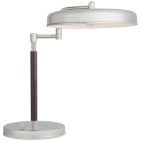Huxley Swing Arm Desk Lamp in Polished Nickel and Bronze