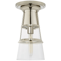Robinson Medium Flush in Polished Nickel with Clear Glass