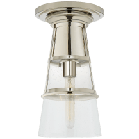 Robinson Medium Flush in Polished Nickel with Seeded Glass