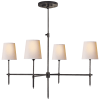 Bryant Large Chandelier in Bronze with Natural Paper Shades