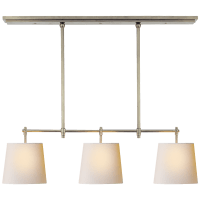 Bryant Small Billiard in Antique Nickel with Natural Paper Shades