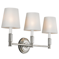 Lismore 3 - Light Vanity Polished Nickel