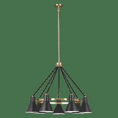 Towner Seven Light Chandelier Satin Brass