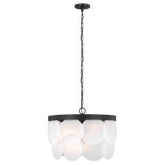 Mellita Six Light Pendant Midnight Black Bulbs Inc