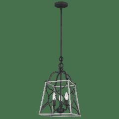 Carra Small Three Light Hall / Foyer Weathered Zinc Bulbs Inc