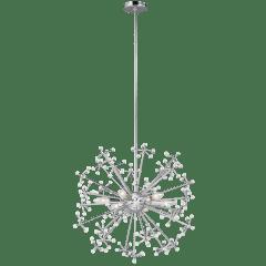 Davi Six Light Pendant Chrome Bulbs Inc