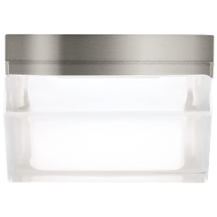 Boxie Small Flush Mount Small satin nickel 3000K 90 CRI led 3000k 120v