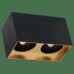"Exo 6 Dual Flush Mount 6.1"" Matte Black Gold Haze 3000K LED 90 CRI 120v 277v UNV 60"