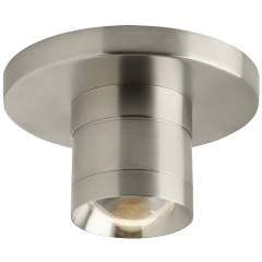 Sopra Flush Mount Metal Optic Ring satin nickel 3000K 90 CRI