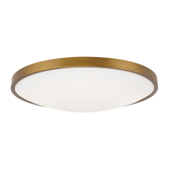 "Vance 13 Flush Mount  13"" Small aged brass 2700K 90 CRI led 90 cri 2700k 120v"