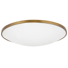"Vance 24 Flush Mount 24"" Diameter aged brass 2700K 90 CRI led 90 cri 2700k 120v"