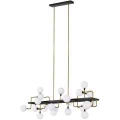 Viaggio Linear Chandelier Opal/Brass no lamp