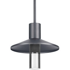 Ash 12 Outdoor Pendant Cylinder Charcoal 2700K 90 CRI  2700K High Output