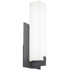 Cosmo 18 Outdoor Wall White Acrylic Charcoal 3000K 80 CRI