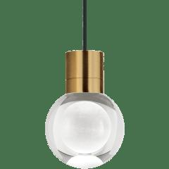 Mina Pendant 1-LITE Clear Aged Brass Black 3000K-2200K 90 CRI LED 120v (t24)