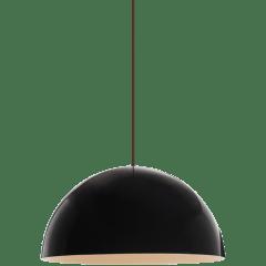 Powell Street Pendant Gloss Black/White black no lamp