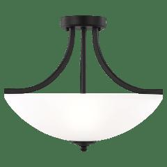 Geary Small Three Light Semi-Flush Convertible Pendant Midnight Black