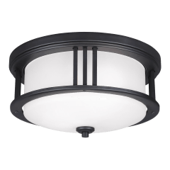 Crowell Two Light Outdoor Flush Mount Black