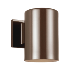 Outdoor Cylinders Small One Light Outdoor Wall Lantern Bronze