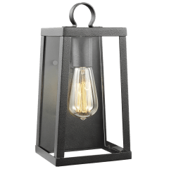 Marinus Small One Light Outdoor Wall Lantern Black