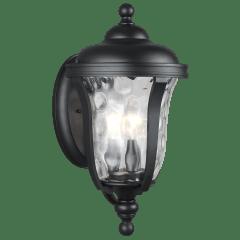 Perrywood Medium Three Light Outdoor Wall Lantern Black Bulbs Inc