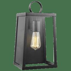 Marinus Medium One Light Outdoor Wall Lantern Black Bulbs Inc