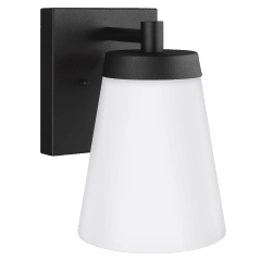 Renville Large One Light Outdoor Wall Lantern Black