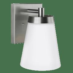 Renville Large One Light Outdoor Wall Lantern Satin Aluminum Bulbs Inc