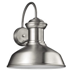 Fredricksburg Large One Light Outdoor Wall Lantern Satin Aluminum Bulbs Inc