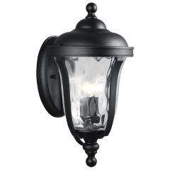 Perrywood Large Three Light Outdoor Wall Lantern Black Bulbs Inc