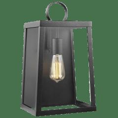 Marinus Large One Light Outdoor Wall Lantern Black