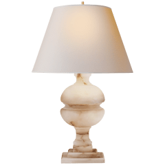 Desmond Table Lamp in Alabaster with Natural Paper Shade