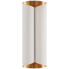 Selfoss Large Sconce in Plaster White and Gild