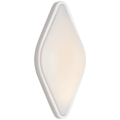 Ezra Medium Bath Sconce in Polished Nickel with White Glass
