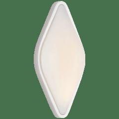 Ezra Medium Bath Sconce in Polished Nickel with White Glass