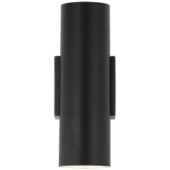 Nella Small Cylinder Sconce in Matte Black