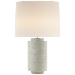Darina Large Table Lamp in Volcanic Ivory with Linen Shade