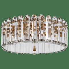 Bonnington Large Flush Mount in Hand-Rubbed Antique Brass