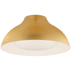 """Agnes 15"""" Flush Mount in Gild with Soft White Glass"""