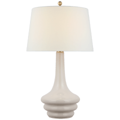 Wallis Large Table Lamp in Ivory with Linen Shade